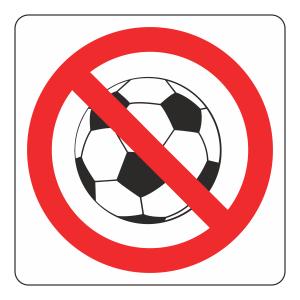 No Ball Games Logo Sign
