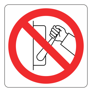 Do Not Switch Off Logo Sign