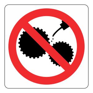 Do Not Oil Logo Sign