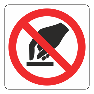 Do Not Touch Logo Sign