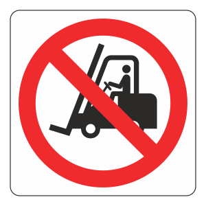No Fork Lift Trucks Logo Sign