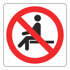 No Sitting Logo Sign