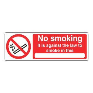 No Smoking Against The Law Sign With Blank (Landscape)
