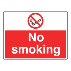 No Smoking Sign (Large Landscape)