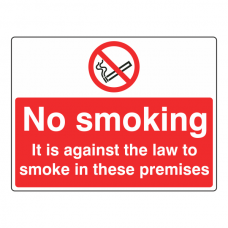 No Smoking In These Premises Sign (Large Landscape)