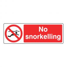 No Snorkelling Sign (Landscape)
