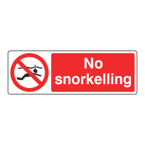 No Snorkelling Sign (Landscape)