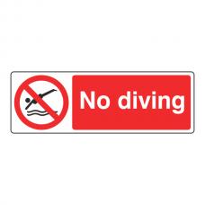 No Diving Sign (Landscape)