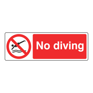 No Diving Sign (Landscape)