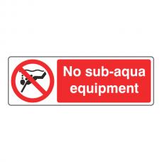 No Sub-Aqua Equipment Sign (Landscape)