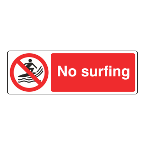 No Surfing Sign (Landscape)