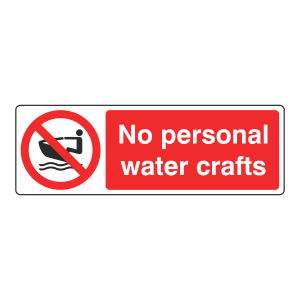 No Personal Water Crafts Sign (Landscape)