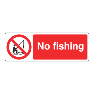 No Fishing Sign (Landscape)