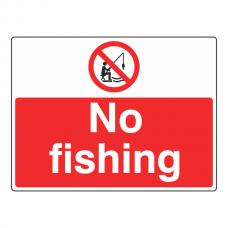 No Fishing Sign (Large Landscape)