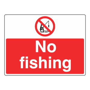 No Fishing Sign (Large Landscape)