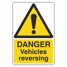 Danger Vehicles Reversing Sign