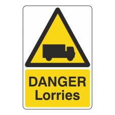Danger Lorries Sign
