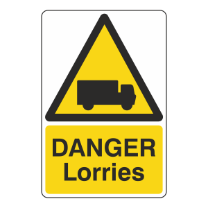 Danger Lorries Sign