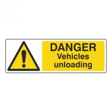 Danger Vehicles Unloading Sign (Landscape)