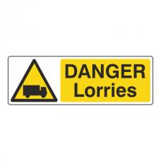 Danger Lorries Sign (Landscape)