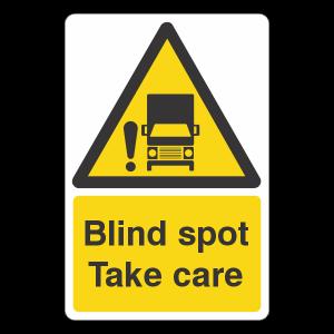 Blind Spot Take Care Sign