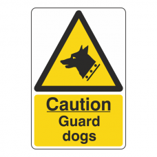 Caution Guard Dogs Sign