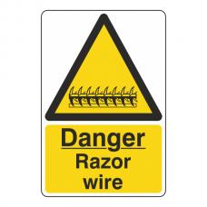 Danger Razor Wire Sign