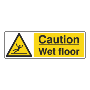 Caution Wet Floor Sign (Landscape)