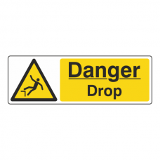 Danger Drop Sign (Landscape)