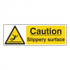 Caution Slippery Surface Sign (Landscape)