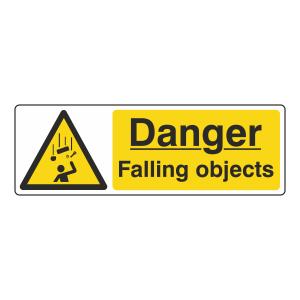 Danger Falling Objects Sign (Landscape)