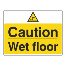 Caution Wet Floor Sign (Large Landscape)