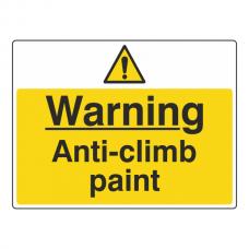 Warning Anti-Climb Paint Sign (Large Landscape)