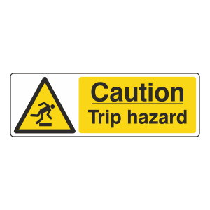 Caution Trip Hazard Sign (Landscape)