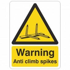Anti Climb Spikes Sign
