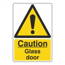 Caution Glass Door Sign
