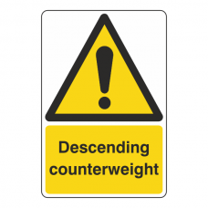 Descending Counterweight Sign