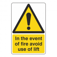 In Event Of Fire Avoid This Lift Sign