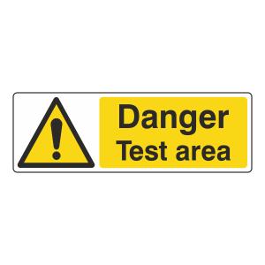 Danger Test Area Sign (Landscape)