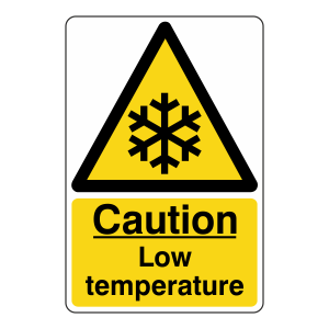 Caution Low Temperature Sign