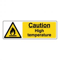 Caution High Temperature Sign (Landscape)