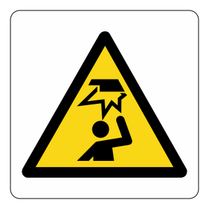 Warning Mind Your Head Logo Sign