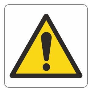 Warning Logo Sign