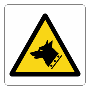 Warning Dogs Logo Sign