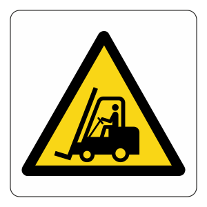 Warning Fork Lift Trucks Logo Sign