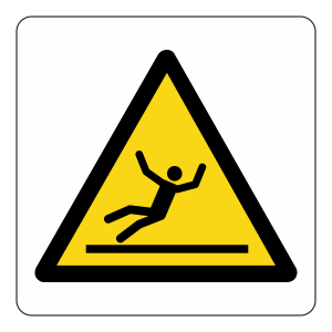 Warning Slippery Surface Logo Sign