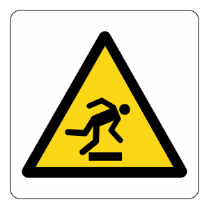 Warning Trip Hazard Logo Sign
