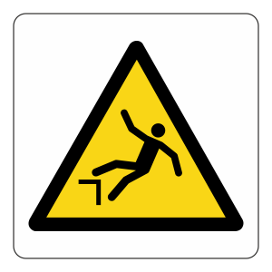 Warning Drop Logo Sign