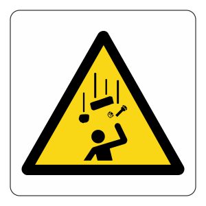 Warning Falling Objects Logo Sign