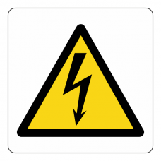 Warning Electricity Logo Sign